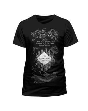 वयस्कों के लिए हैरी पॉटर मारुडर का नक्शा टी-शर्ट