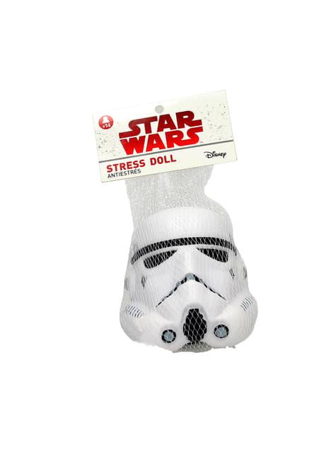 Figura antiestrés casco de Stormtrooper Star Wars 9 cm - el más divertido
