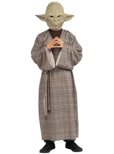 Delux dräkt Mäster Yoda barn