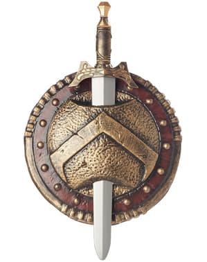 Spartansk kombat svärd och sköld