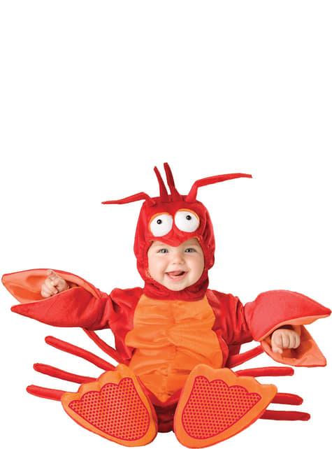 Fato de lagosta com pinças para bebé