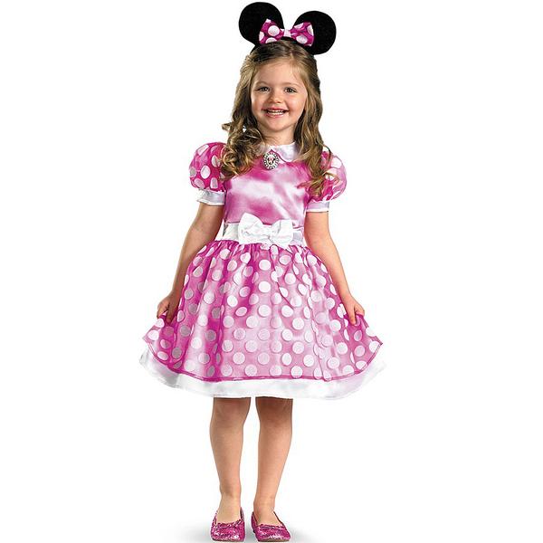 Disfraz de Minnie Mouse Clubhouse Rosa Classic para niña