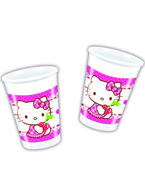 8 Hello Kitty Cups - Hello Kitty Hearts