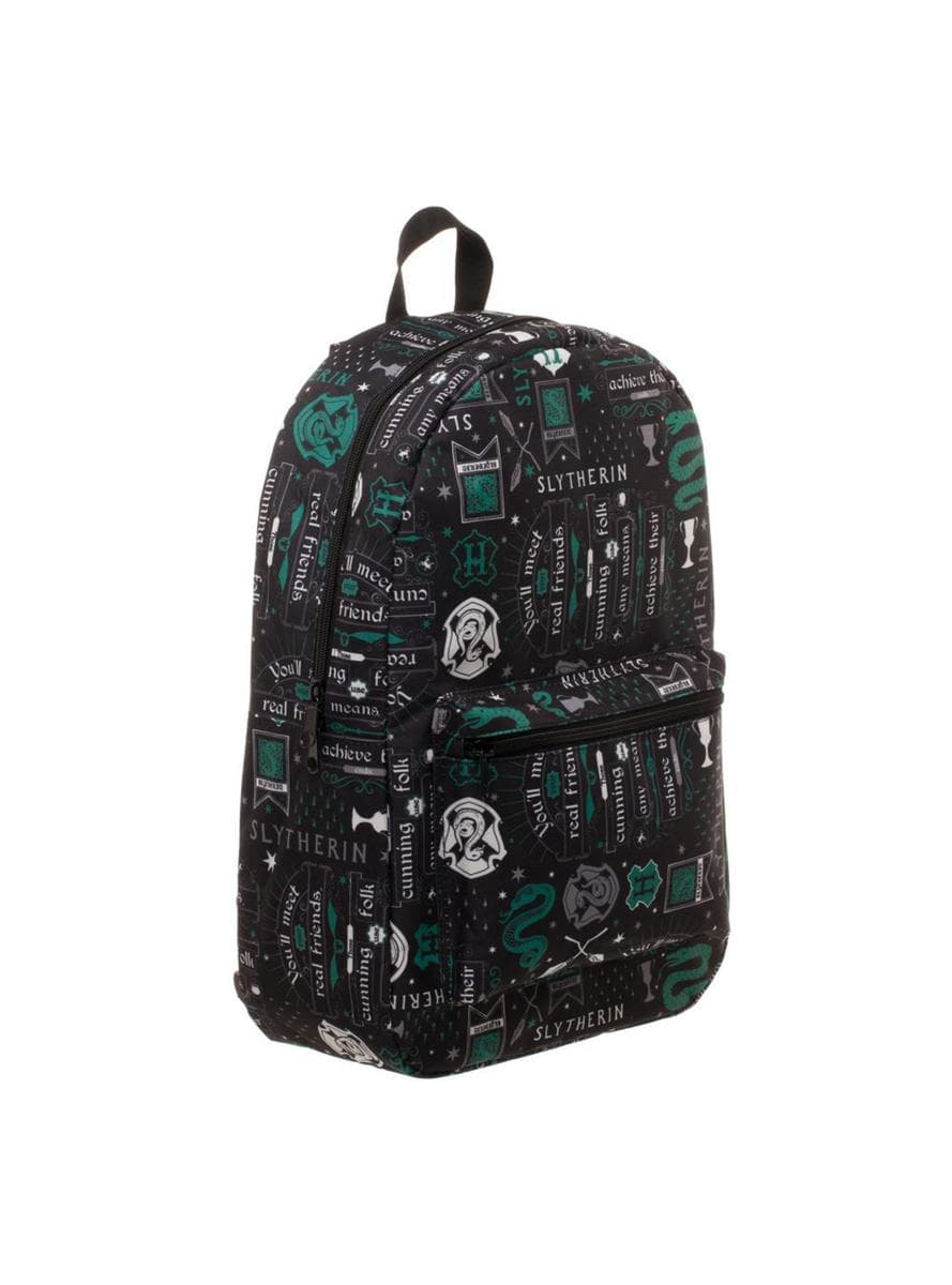 slytherin harry potter printed backpack funidelia. Black Bedroom Furniture Sets. Home Design Ideas