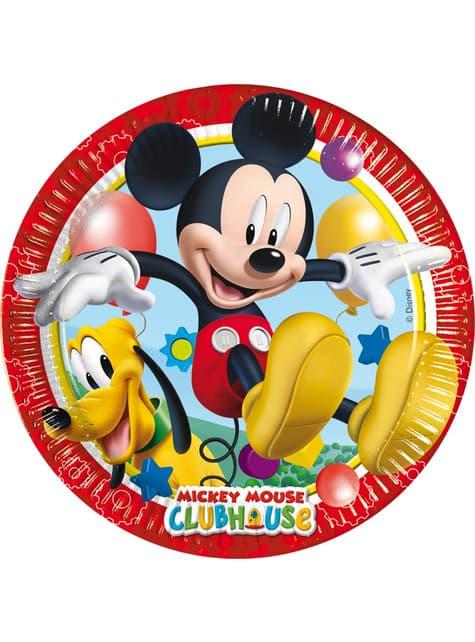 8 db játékos Mickey tányér (20 cm) - Mickey Club House