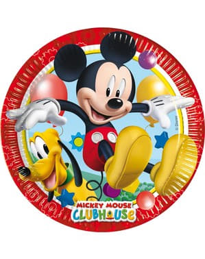 ミッキークラブハウス プレイフル・ミッキー皿(20cm)8枚