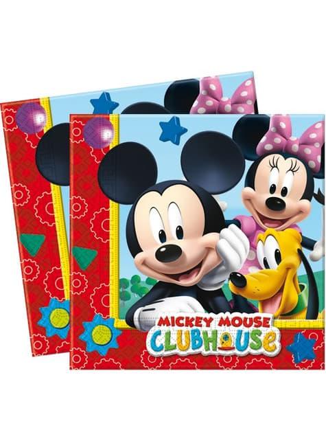 20 serviettes en papier Mickey - ClubHouse