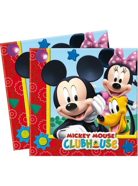 20 Mickey napkins - ClubHouse