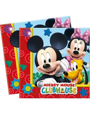 20 servilletas Mickey - ClubHouse