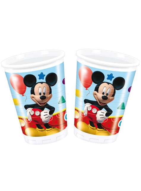 8 vasos Mickey Mouse - ClubHouse
