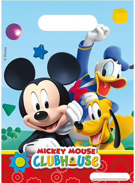 6 bolsas para chucherías Mickey Mouse - Clubhouse