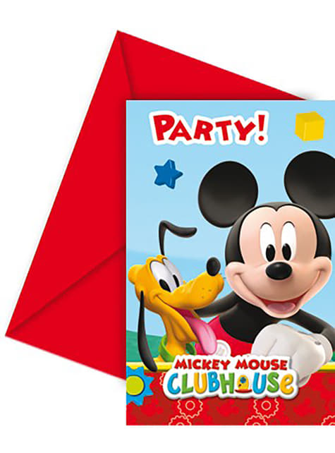 6 convites Mickey Mouse Clubhouse - ClubHouse