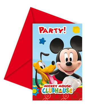 6 invitaciones Mickey Mouse - ClubHouse