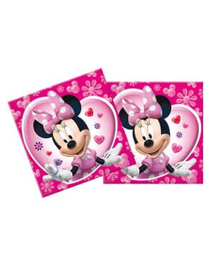 Conjunto de guardanapos cor-de-rosa Minnie Mouse