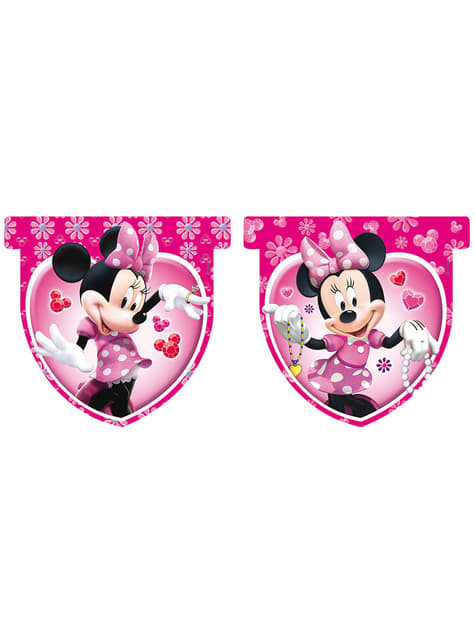 Minnie Mouse Wimpel rosa