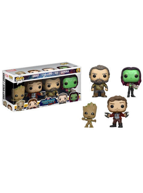 Funko POP! 4-Pack: Groot, Star Lord, Ego & Gamora - Guardians of the Galaxy