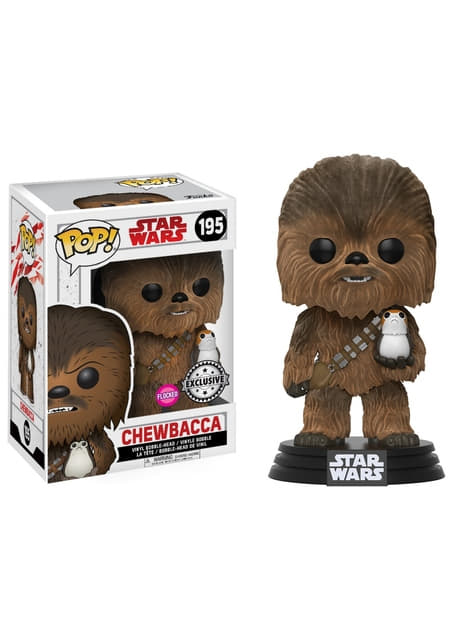 Funko POP! Chewbacca with Porg Flocked - Star Wars: The Last Jedi