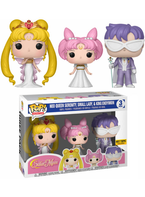 Funko POP! 3-Pack: Reina Serenity, Pequeña Dama, Rey Endymion - Sailor Moon