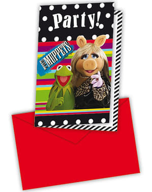 6 invitaciones The Muppets