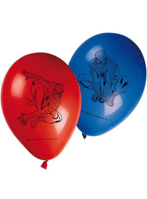 8 globos Spiderman (30 cm)