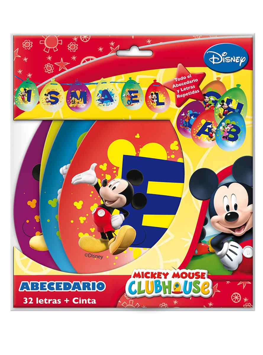mickey mouse clubhouse partybuchstaben set lieferung 24h funidelia. Black Bedroom Furniture Sets. Home Design Ideas