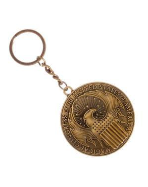 Porte-clés Les Animaux fantastiques Macusa doré