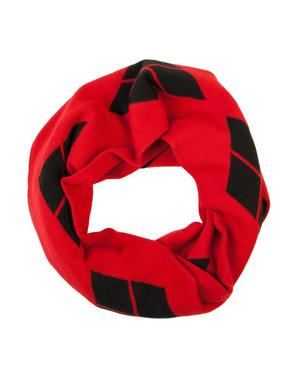 Red Harley Quinn infinity scarf