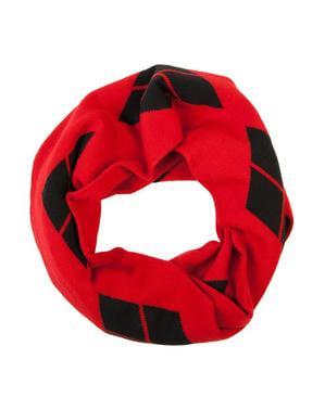 Rødt Harley Quinn evighetsskjerf