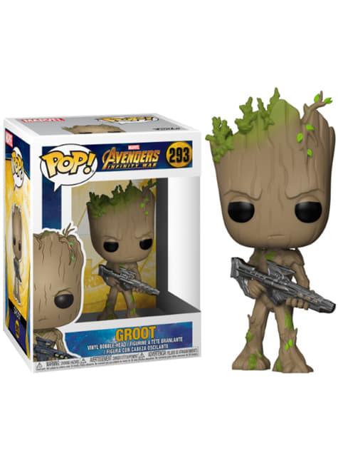 Funko POP! Bobble: Groot adolescent avec arme-  Avengers: Infinity War
