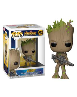 Funko POP! Bobble: Groot adolescente con arma - Los Vengadores: Infinity War