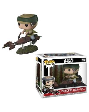 Funko POP! בובל דלוקס: Leia עם דוהר Bike - מלחמת הכוכבים
