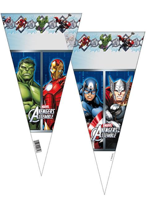 6 bolsas de cono Los Vengadores - Mighty Avengers
