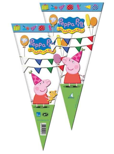10 bolsas de cono Peppa Pig