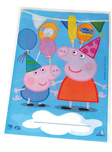 10 borse rettangolari Peppa Pig