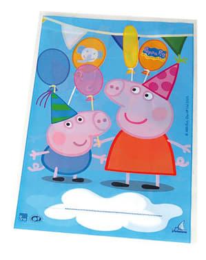 10 bolsas de chucherías Peppa Pig