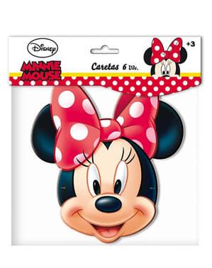 6 caretas Minnie Mouse