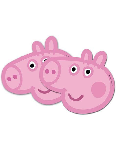 Set de caretas Peppa Pig