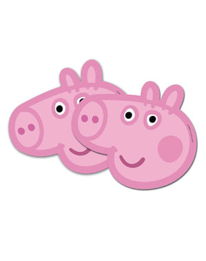 6 caretas Peppa Pig