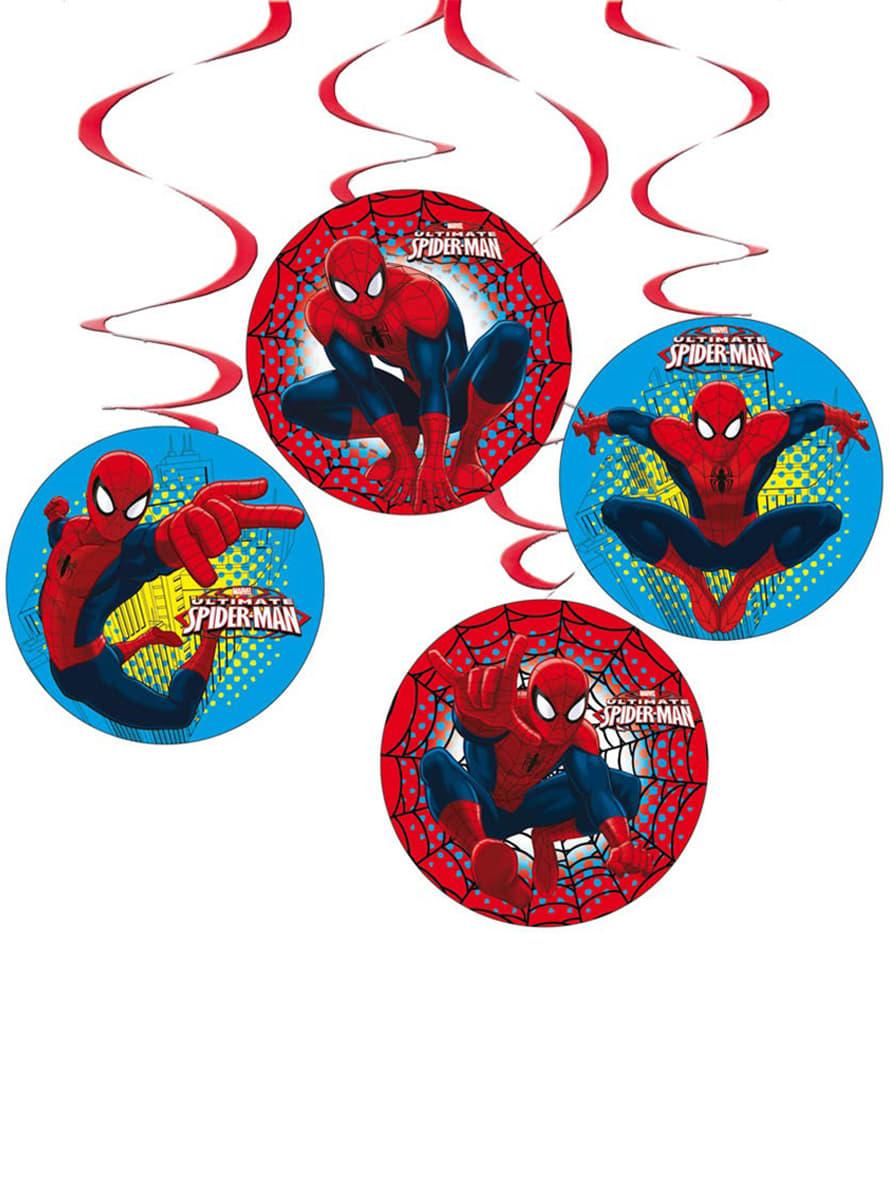 Conjunto de pingentes decorativos ultimate spiderman for Conjunto de espejos decorativos
