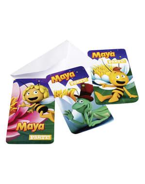 Set inbjudningar Biet Maya