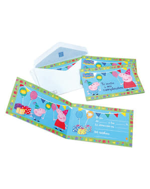 Lot d'invitations Peppa Pig