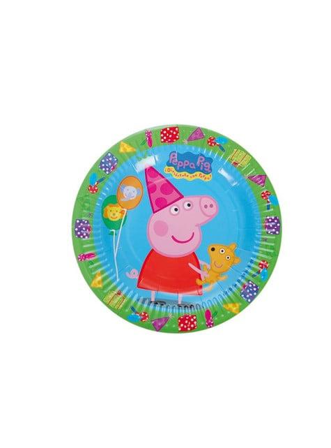 8 platos pequeños Peppa Pig (18 cm)
