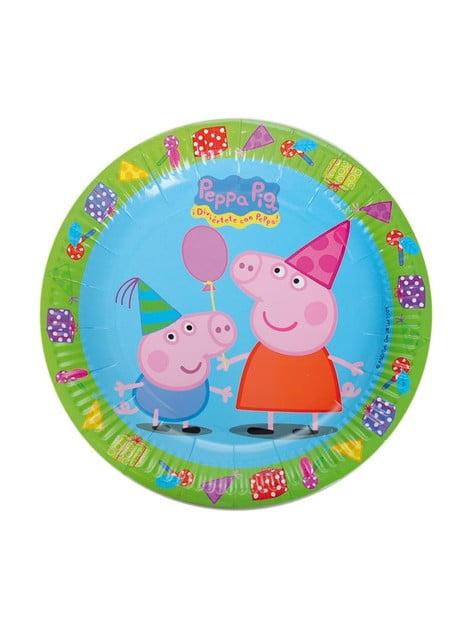 8 platos Peppa Pig (23 cm)