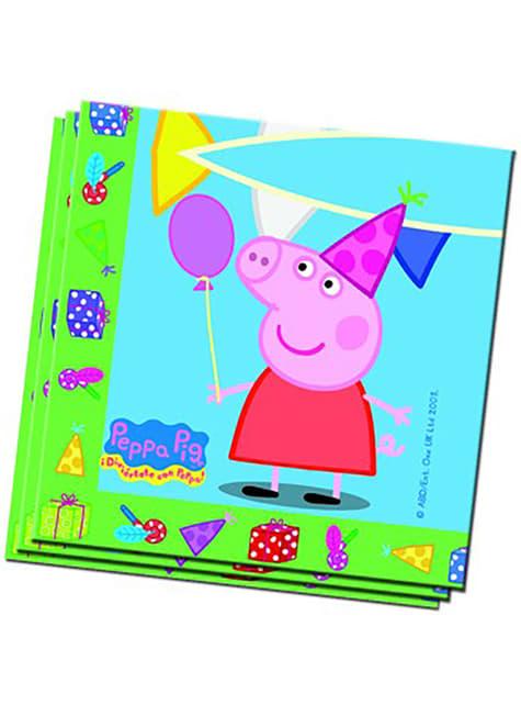 20 servilletas Peppa Pig (33x33 cm)
