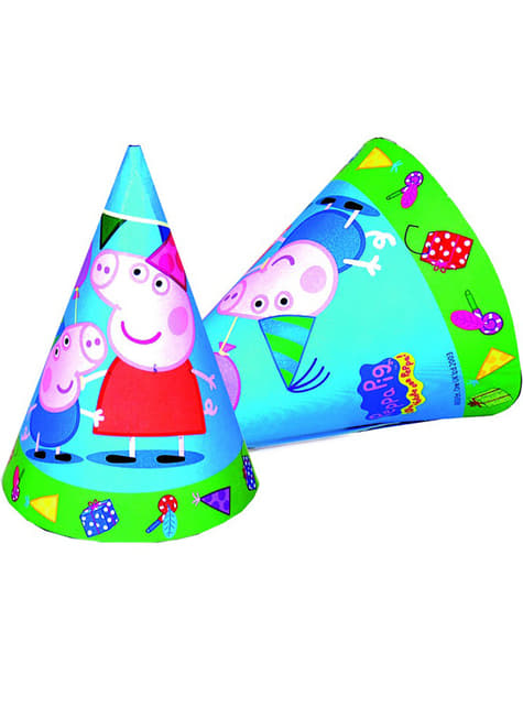 6 sombreros Peppa Pig