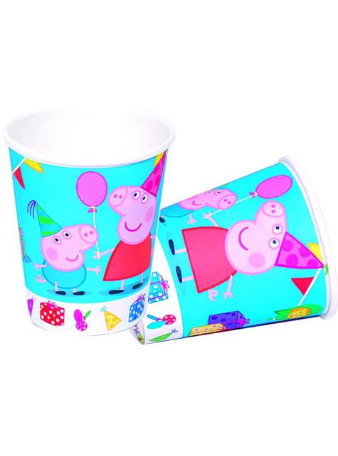 8 vasos Peppa Pig