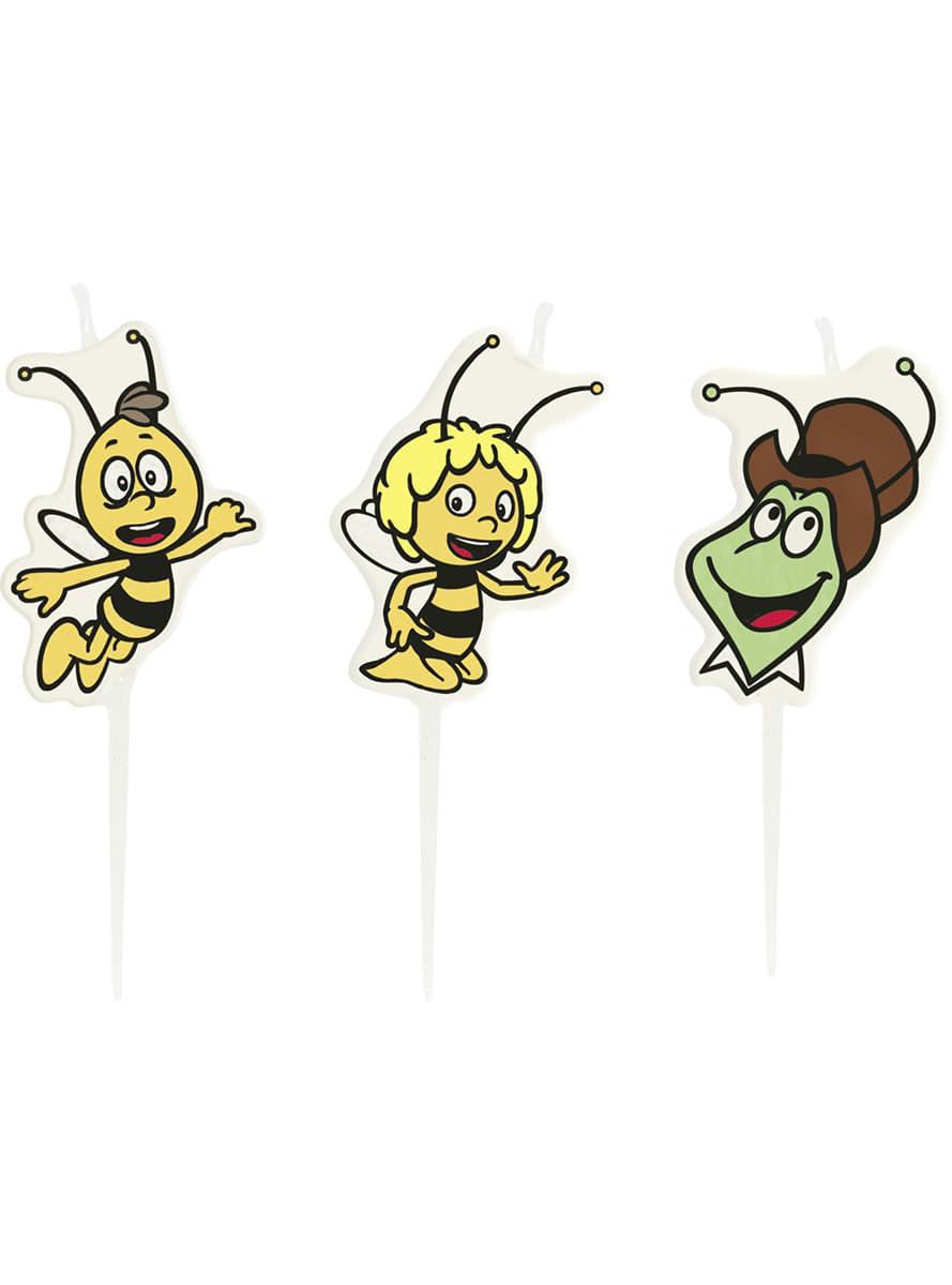 lot de bougies maya l 39 abeille acheter en ligne sur funidelia. Black Bedroom Furniture Sets. Home Design Ideas