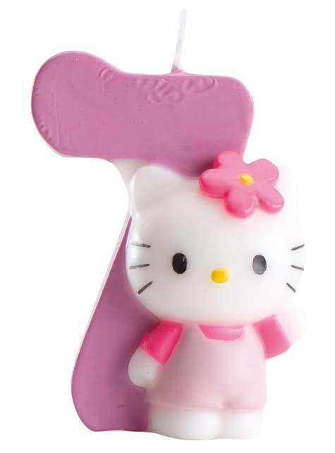 Vela número 7 Hello Kitty