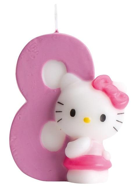 Hello Kitty numero 8 kynttilä