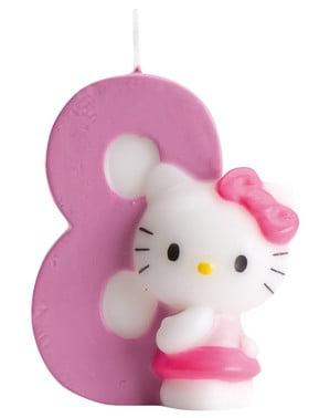 Hello Kitty Nummer 8 Lys